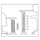 KS-2 Kabelspirale für eine Höhe bis zu 130 cm