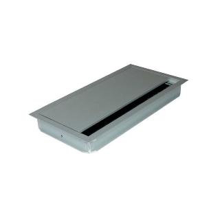 Kabelauslass mit geradem Deckel, Alu, 120x360x25 mm