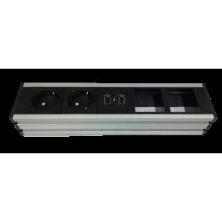 Universal Steckdosenleiste UPD - 1M2P1USBC2-2E