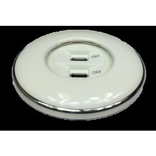 IRIS80 - 2 USB Charger (1USBC2) weiß glanz