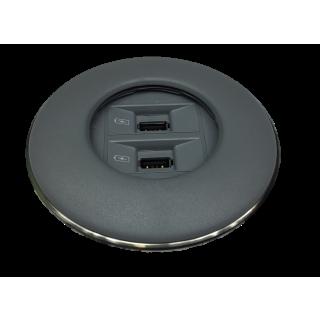 IRIS80 - 2 USB Charger (1USBC2) grau matt