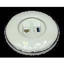 IRIS80 - 1Cat6 / 1USB 3.0 (1D1USB) weiß glanz
