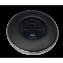 IRIS80 - 1Cat6 / 1USB 3.0 (1D1USB) schwarz matt