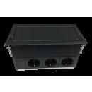 Kompakt XL Tischanschlußfeld mit Extrapower (3P/6P) schwarz