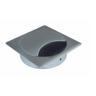 Kabeldose quadratisch (Metall) chrom matt