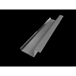Kabelwanne inkl. 3 Befestigungsöffnungen für Schrauben, Stahlblech  600 mm alusilber