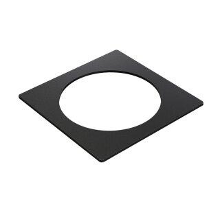 Metallrahmen für Abeckung von Connector 1 und 2 105 mm x 105 mm schwarz