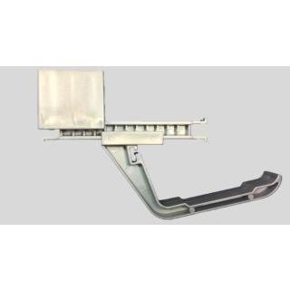 Kabelwannenführung (Doppelpack) für Traversen bis zu einer Höhe von 40 mm, inkl. Befestigungsmaterial, Kunststoff