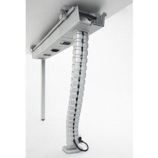 Kabelspirale zum Einbau in Kabelschublade für Schreibtische bis Höhe 720 mm, grau