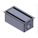 Flapbox 300 x 150 mm silber